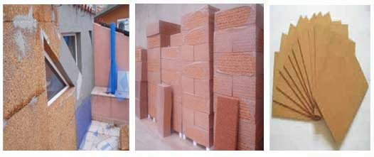 Cork Insulation Panels